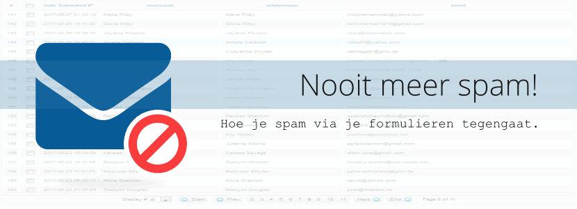 Nooit meer spam!