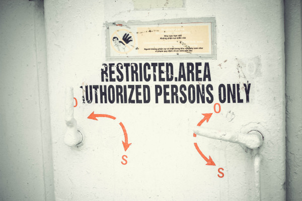 restricted area 600