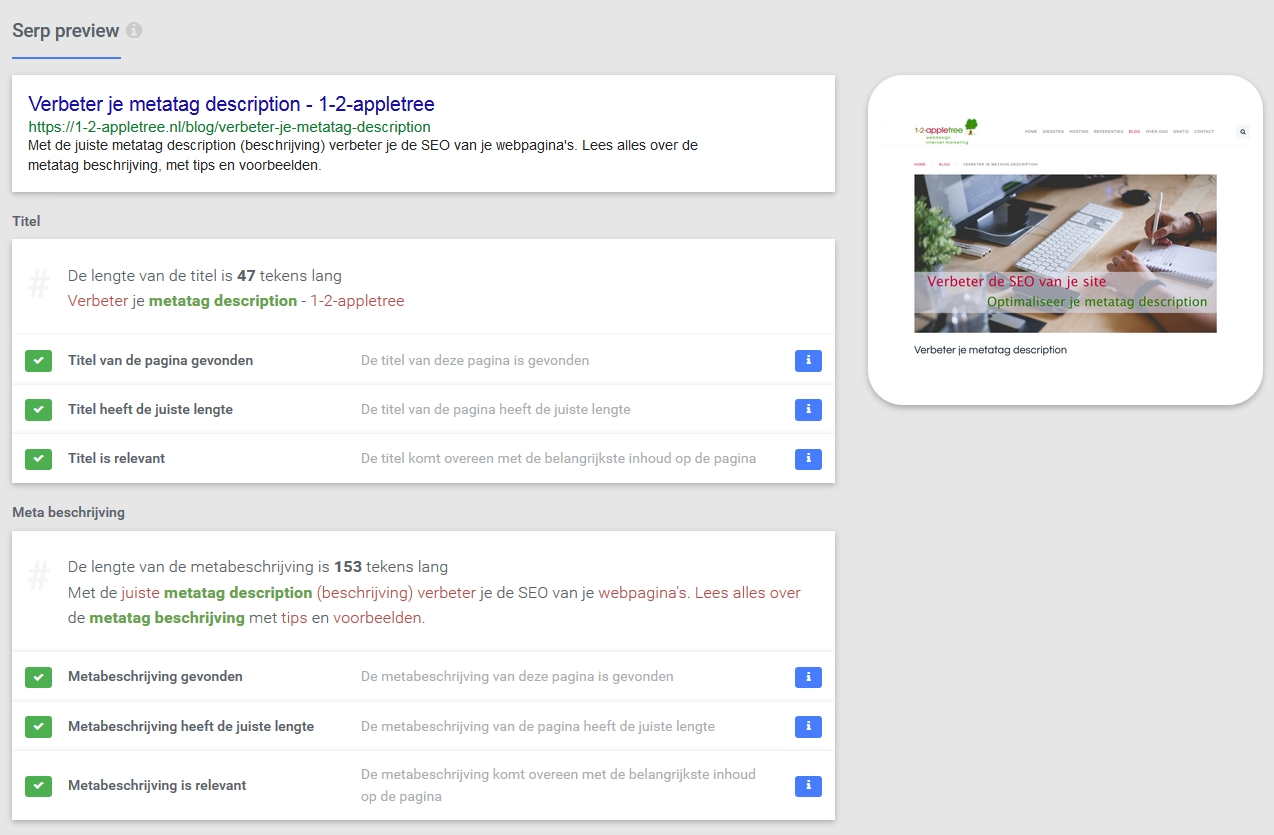 onpage serp preview
